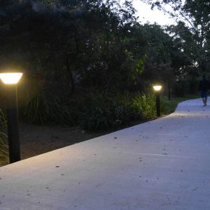 Outside pathway lighting