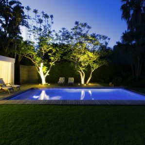 outside lighting swimming pool